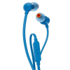 AURICULARES INTRAUDITIVOS JBL T110 BLUE - PURE BASS - DRIVERS 9MM - CABLE PLANO - FUNC. MANOS LIBRES