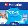 CD-R Verbatim AZO Wide Inkjet Printable Jewel Case 10Uds