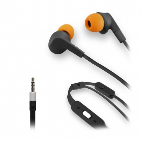 Auriculares Muvit Cable Plano Negro