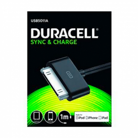Cable Duracell Conector 30 Pin a USB 1M Negro