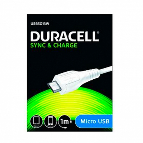 Cable Micro-USB Duracell 1M Blanco