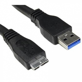 Cable USB 3.0 AM/MicroUSB 3.0 BM Nanocable Negro 2m