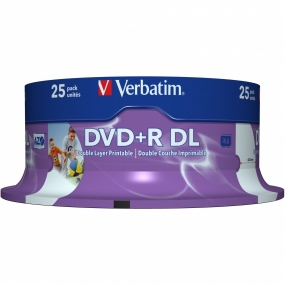 DVD+R Verbatim Double Layer Inkjet Printable Tarrina 25Uds