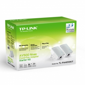 kit Inicio Con Adaptadores Powerline TP-Link PA4010KIT 500Mbps 2 Uds.