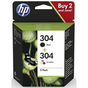 Pack Tinta HP 304 Negro + 304 Color