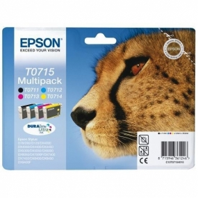 Multipack Tinta Epson T0715 Color + Negro