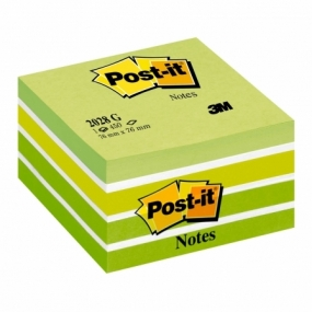 Notas Adhesivas POST-IT 3M Cubo Rosa Neon 450 Hojas 76 X 76mm