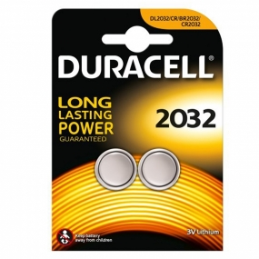 Pack 2 Pila Duracell Litio Boton DL2032 3V