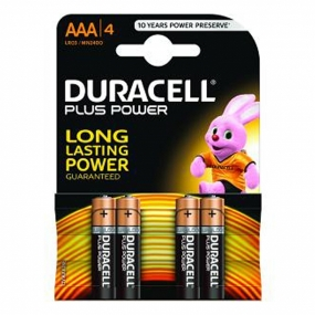 Pack 4 Pilas Duracell Plus Power AAA Alcalinas