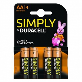 Pack 4 Pilas Duracell Simply AA Alcalinas