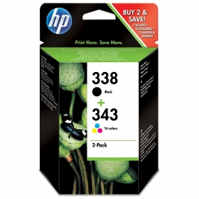 Pack Tinta HP 338 Negro + 343 Color