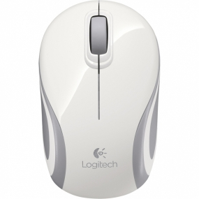 Raton Logitech Wireless Mini Mouse M187 Blanco