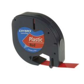 Recambio Dymo LT Black on Red 12mm x 4m
