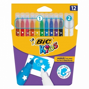 Rotuladores Bic Kids Magic Felt Pens 10 Colores + 2 Correctores