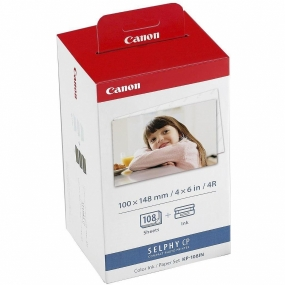 Tinta Canon Selphy KP108IN + 108 Hojas 10x15