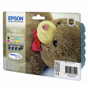 Tinta Epson T0615 Color + Negro