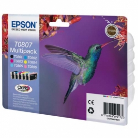 Tinta Epson T0807 Color + Negro